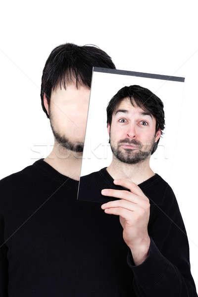 2 顔 驚いた シンボリック 画像 男 ストックフォト © armin_burkhardt