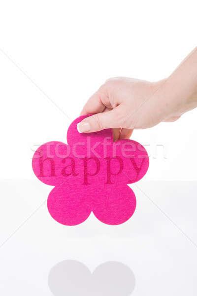 幸せ 女性 手 ピンク 花 ストックフォト © armin_burkhardt