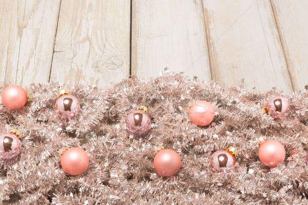 鮭 銀 ツリー 花輪 ピンク クリスマス ストックフォト © armin_burkhardt