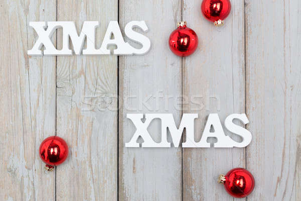 Natale bianco legno business internet felice Foto d'archivio © armin_burkhardt