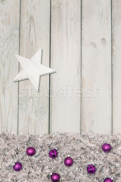 紫色 クリスマス 白 星 明るい ストックフォト © armin_burkhardt