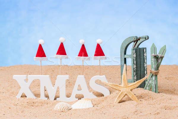 クリスマス 休暇 ライブ サンタクロース 砂 ストックフォト © armin_burkhardt