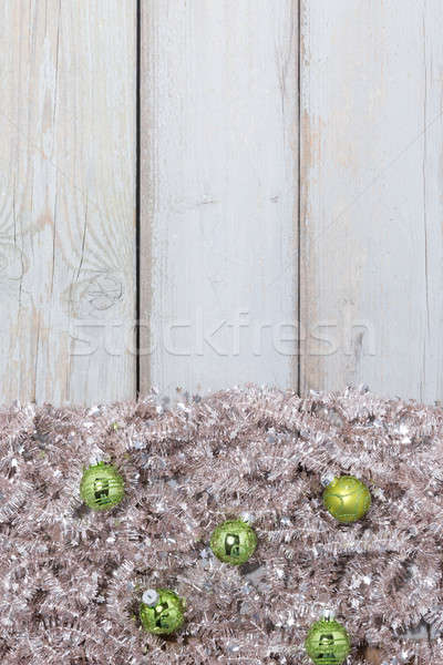background green christmas balls Stock photo © armin_burkhardt