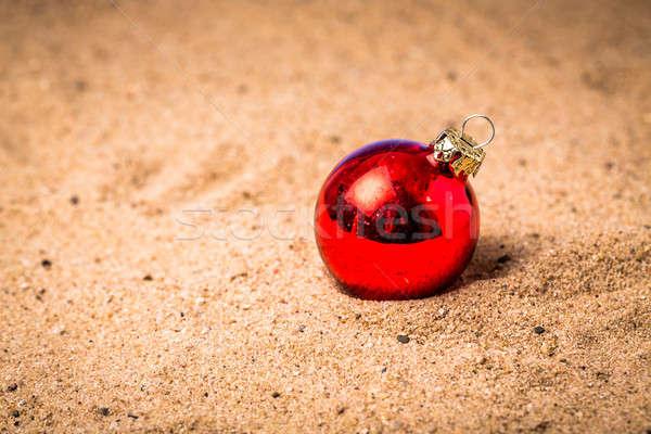 Vale regalo Navidad pelota arena Foto stock © armin_burkhardt
