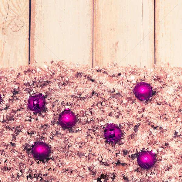 Viola Natale argento albero ghirlanda Foto d'archivio © armin_burkhardt