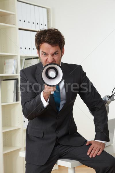 Doktor klinik iş adamı ofis işadamı megafon Stok fotoğraf © armstark