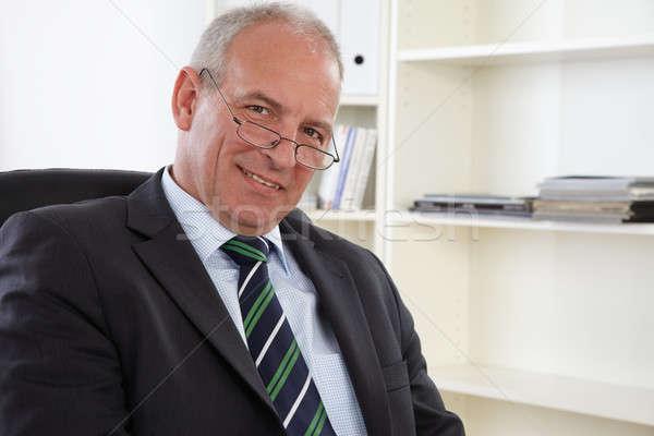 старые деловой человек портрет бизнеса служба человека Сток-фото © armstark