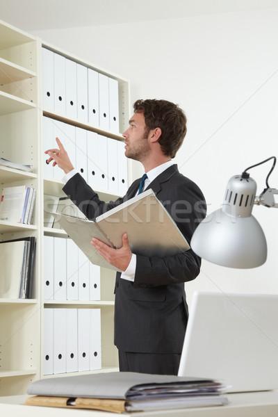 Iş adamı ofis iş bilgisayar işadamı takım elbise Stok fotoğraf © armstark