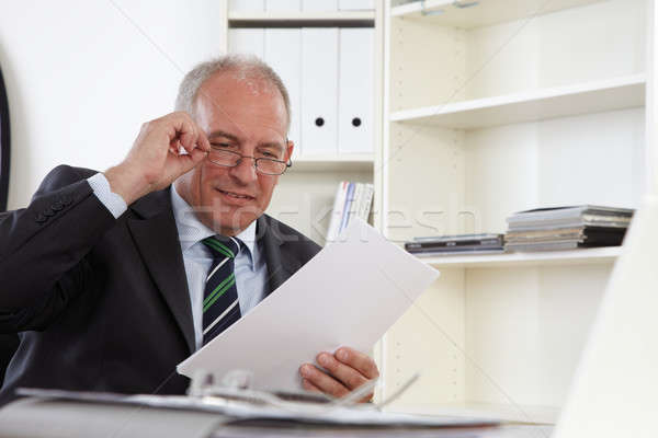 Stock photo: Old Business man in office
