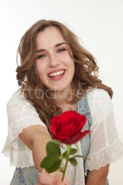 Girl with rose Stock photo © armstark
