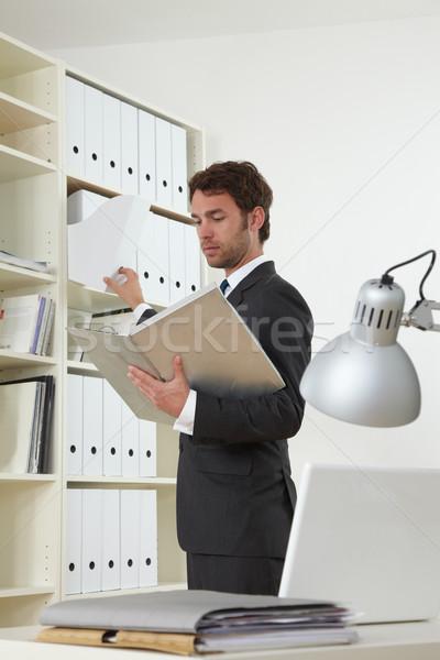 Doktor klinik iş adamı ofis iş bilgisayar Stok fotoğraf © armstark