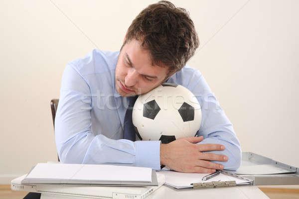 человека футбола бизнеса служба Футбол счастливым Сток-фото © armstark