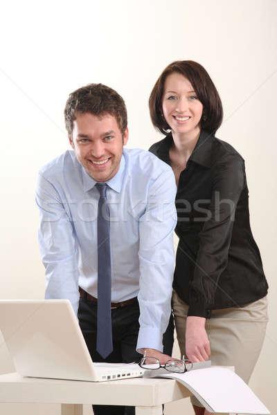 человека женщину бизнес-команды компьютер работу бизнесмен Сток-фото © armstark