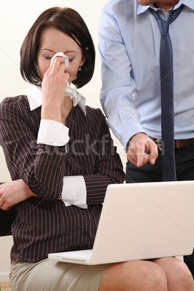 Iş kadını sorun iş adamı iş kadın çalışmak Stok fotoğraf © armstark