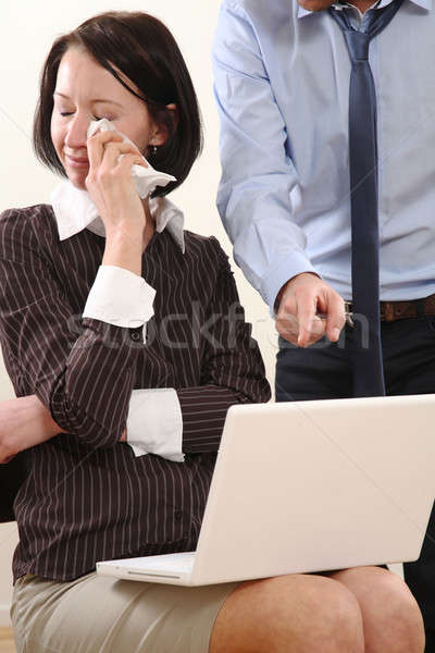 Business Woman get in trouble with Business man Stock photo © armstark