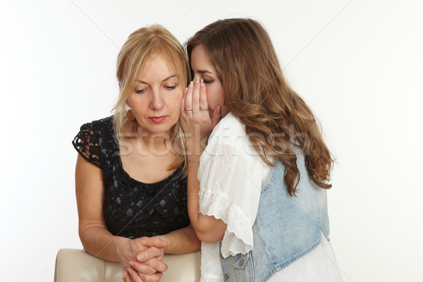 дочь матери что-то уха женщину женщины Сток-фото © armstark