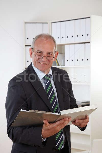 Eski iş adamı iş ofis işadamı Stok fotoğraf © armstark