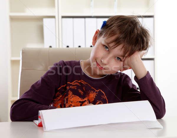 öğrenci öğrenmek ödev okul çocuk eğitim Stok fotoğraf © armstark