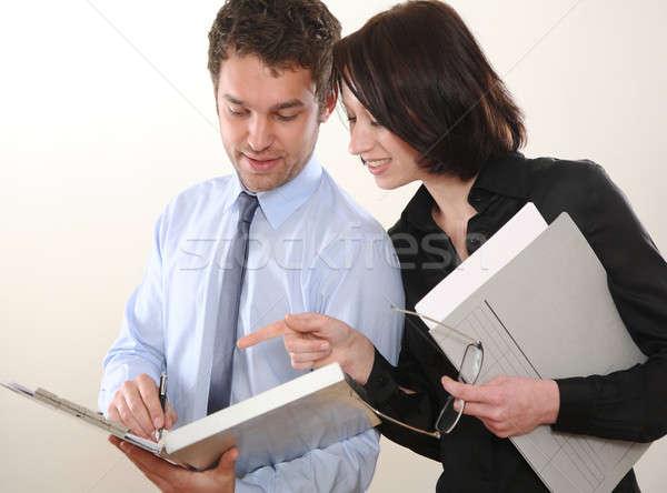 Adam kadın iş adamı iş toplantı işadamı Stok fotoğraf © armstark