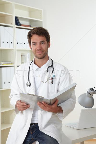 Doktor klinik iş adam tıbbi dizüstü bilgisayar Stok fotoğraf © armstark