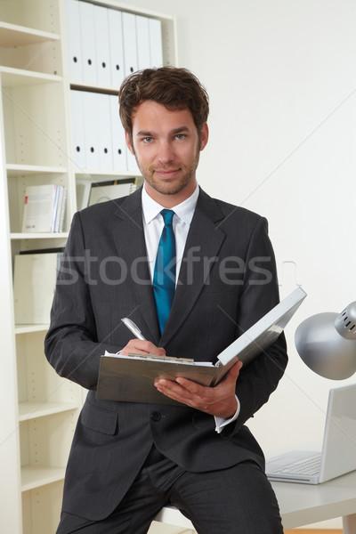Doktor klinik iş adamı ofis iş yüz Stok fotoğraf © armstark