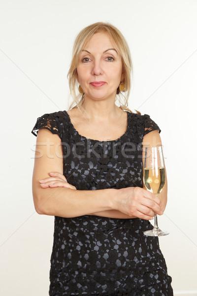 Kadın parti doğum günü sağlık iletişim başarı Stok fotoğraf © armstark