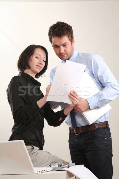 бизнес-команды человека женщину команда деловой человек компьютер Сток-фото © armstark
