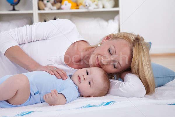母親 再生 赤ちゃん 階 家族 楽しい ストックフォト © armstark