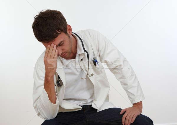 врач устал медицинской работу подчеркнуть белый Сток-фото © armstark