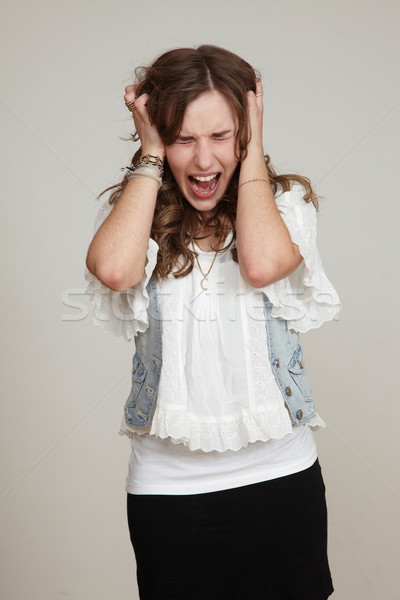 teenager girls screaming Stock photo © armstark