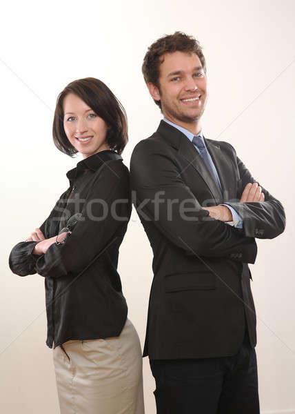 человека женщину деловой человек бизнеса бизнесмен очки Сток-фото © armstark