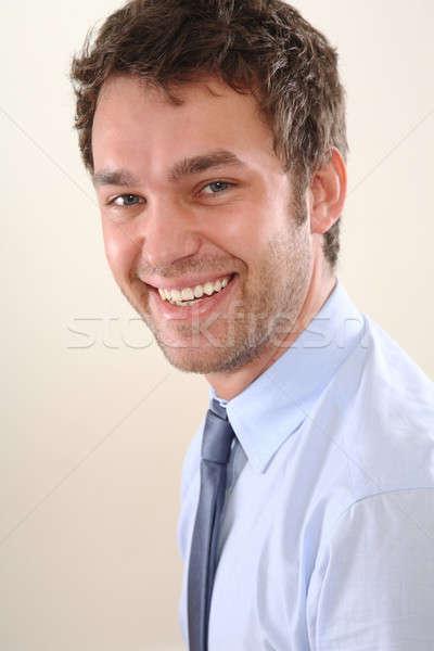 Adam portreler iş iş adamı portre gözler Stok fotoğraf © armstark