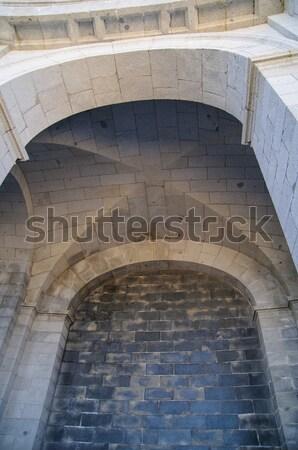 Pont bois pierre médiévale Photo stock © arocas