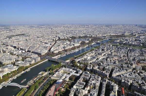 Paris paysage vue Tour Eiffel France arbre Photo stock © arocas