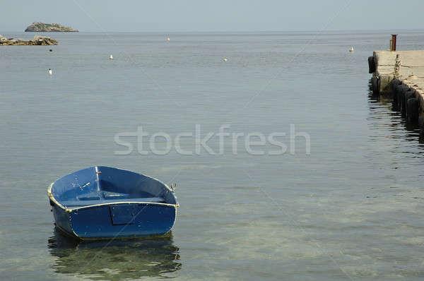 Tekne ada İspanya su deniz okyanus Stok fotoğraf © arocas