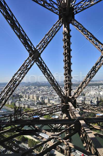 Tour Eiffel une métal nuit lampe tour Photo stock © arocas