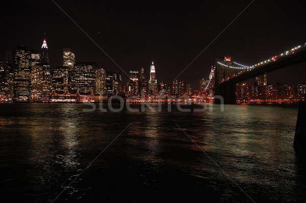 Manhattan ciel ligne bâtiments New York Photo stock © arocas