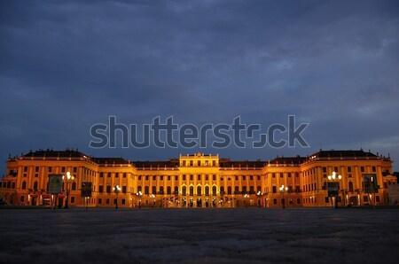 Coucher du soleil palais Autriche ciel Photo stock © arocas