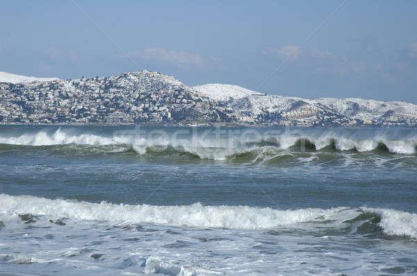 Neige roses mer montagne Photo stock © arocas