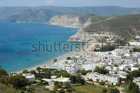 Küçük kasaba İspanya plaj gökyüzü Stok fotoğraf © arocas