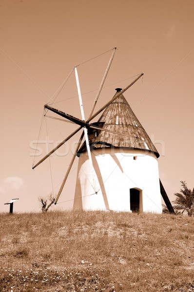 Moulin à vent vieux naturelles parc andalousie Espagne Photo stock © arocas
