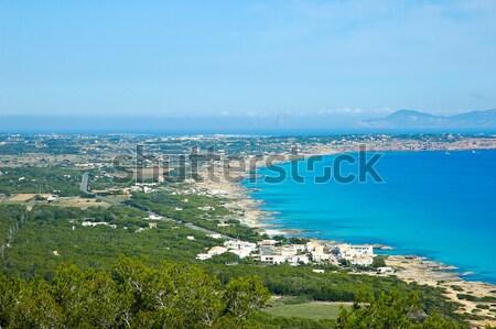 île vue Espagne ciel arbre mer Photo stock © arocas