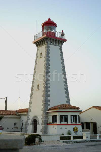 Deniz feneri kule güney Fransa Stok fotoğraf © arocas
