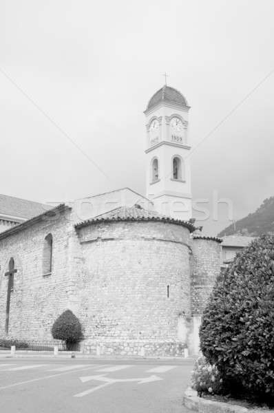 Taş kilise dağ kaya Stok fotoğraf © arocas
