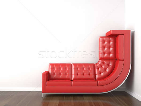 red couch bended to climb wall Stock photo © arquiplay77