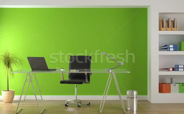 interior design of modern green office Stock photo © arquiplay77