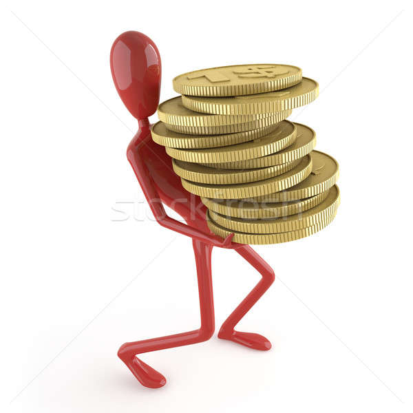 dummy carrying coins Stock photo © arquiplay77