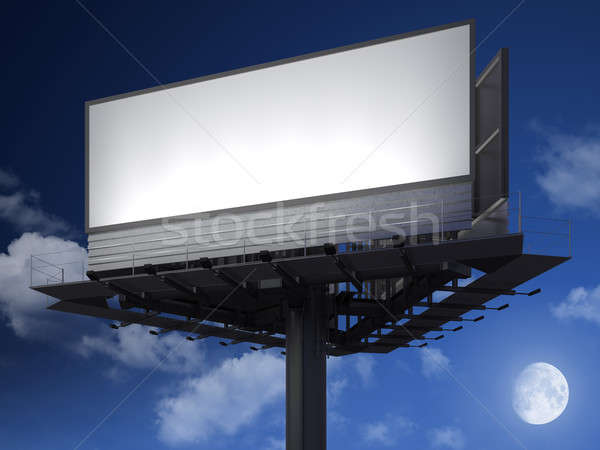 blanck billboard at night Stock photo © arquiplay77
