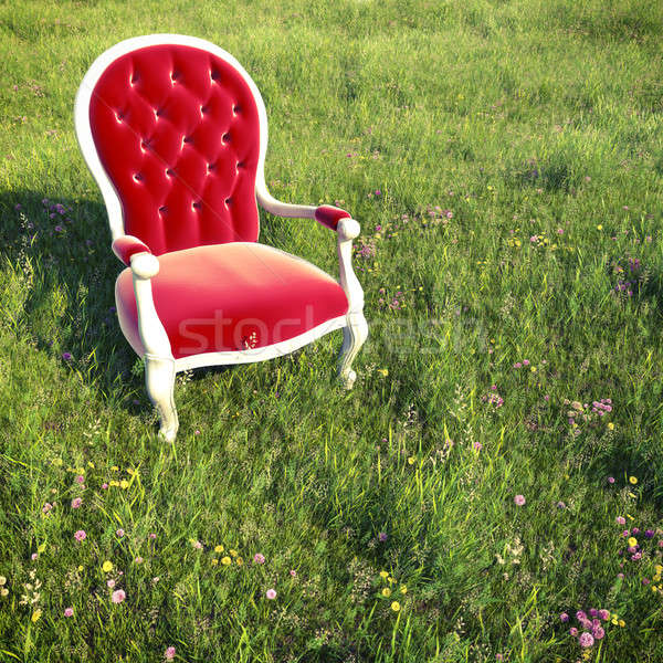 dreamlike armchair on a meadow Stock photo © arquiplay77