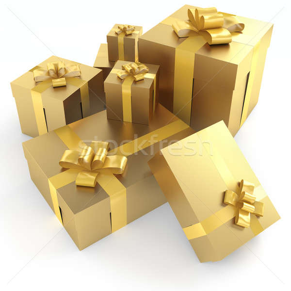 golden gifts isoleted Stock photo © arquiplay77
